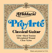 D'addario Ej46 Pro Arté Clásico guitarra cuerdas de Tensión dura