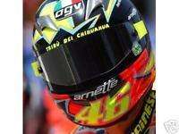 VALENTINO ROSSI VISOR STICKERS DECALS - Moto GP Yamaha GP R1 R6