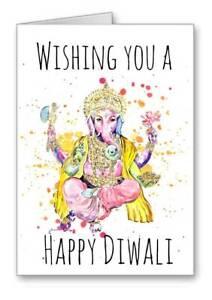 Ganesh Hindu God Card Wishing you A Happy Diwali