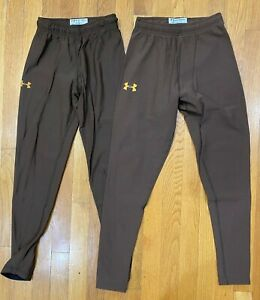 Under Armour Cold Heat Gear Compression Fit Pants Lot brown Mens MEDIUM