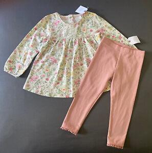 Toddler Girl 18-24 Month Next UK Floral Print Tunic Top & Full Length Leggings