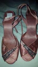 Las SEÑORAS UK 6 Clarks albaricoque melocotón rosa Sandalias Tacones Zapatos Zapatos Fiesta Satay