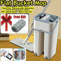 Auto Mop Balai Seau Magique Clean+ 10X Chiffon en Microfibre Filant Kit