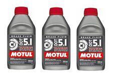 Motul DOT 5.1 Brake Fluid Fully Synthetic 500mL Bottle DOT 3  & DOT 4 (Qty 3)