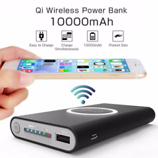 Qi Wireless Charging 10000mAh Power Bank Battery Pack Portable Fast Charger hifi