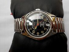 RARE VINTAGE SS SWISS WESTEND WATCH SOWER PRIMA 34 MM GENTS AUTOMATIC WRISTWATCH
