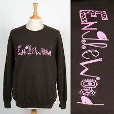 MENS VINTAGE RETRO SWEATSHIRT JUMPER ENGLEWOOD CHICAGO USA AMERICA SWEATER TOP L