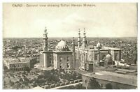 Antique printed postcard Cairo General View Showing Sultan Hassan Mosque