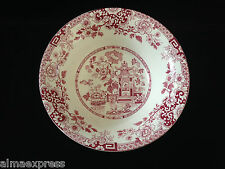 "Rare Myott Staffordshire England China RED Indiana - 8-5/8"" ROUND SERVING BOWL"