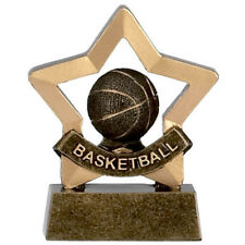 BASKETBALL CHILDS CHILDREN TROPHY COURT NET ENGRAVED FREE MINI STAR TROPHIES