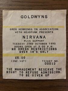Nirvana concert ticket - 1990 original.
