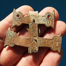 ANTIQUE MEDIEVAL CARAVACA CROSS PIRATE TIME COLONIAL CRUCIFIX 17TH CENTURY MEDAL