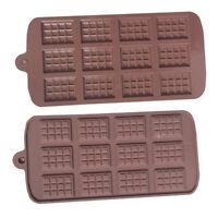 24 Grid Square Chocolate Silicone Bar Block Ice Cake Candy Sugar Baking Mold DEN