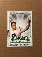 2020 Sage Hit PREMIER DRAFT Joe Burrow ROOKIE Five Star A SEASON FOR THE AGES#92