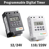 12V /24/110/ 220V Relè Interruttore Digitale Power LCD Timer Programmabile TM616