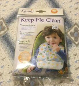 Summer Keep Me Clean Disposable Bibs.