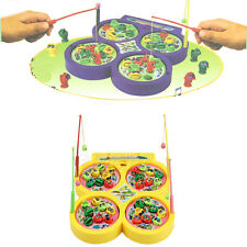 Kid Educational Toys Go Fishing Game Electric Rotating Magnetic Magnet Fish Toy