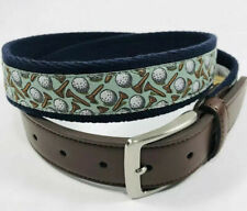 42-44 Needlepoint + XL Tommy Bahama Embroidered Belt Mens M 34-36 NWT