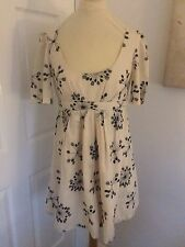 French Connection Cream Cotton Embroidery Dress Size 10