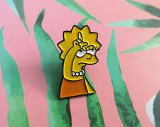 The Simpsons Pin Badge Brooch 90s Cartoon Lisa Loser Meme Birthday Gift Bag UK