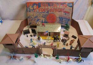 1956 screen gems Marx playset western cowboy 60mm boxed Rin Tin Tin Fort Apache