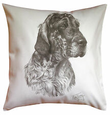More details for  english setter ms breed of dog themed cotton cushion cover - perfect gift