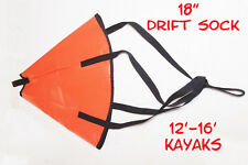 "18"" Drift Sock - Kayak Fishing, Kayak, canoe, Saltwater, Freshwater, Made in USA"