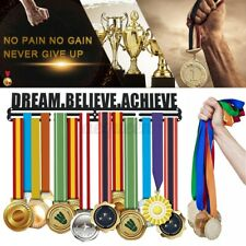 Sporting Medal Hanger Awards Display Medal Holder Rack Dream Believe Achieve