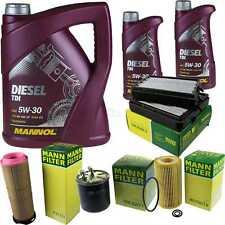 Motor-Öl 7L MANNOL Diesel TDI 5W-30+MANN-FILTER Mercedes C-Klasse S203 C 220 CDI
