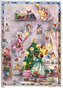 Wunderschöner alter Adventskalender mit Glitzer. Made in West-Germany  10314