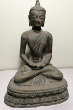 Collectable or home decoy Chinese Tibetan bronze Buddha sitting on lotus H21cm