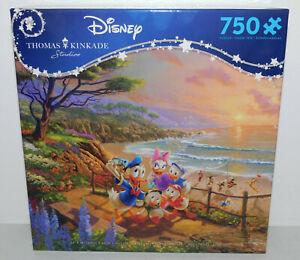 Disney Thomas Kinkade 750 Jigsaw Puzzle DONALD & DAISY DUCK Uncle Scrooge McDuck