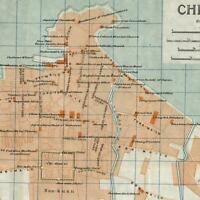 Yantai Che-Foo Zhifu China Chinese c.1915-20 scarce detailed city plan old map