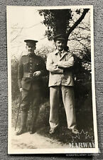 WW1 CEF Postcard showing, Two Soldiers one in Hospital dress   (19005)