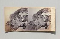 Amalfi Napoli Italia Stereo Vintage Albumina Ca 1865