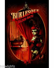 "Too Fast BURLESQUE BLOODBATH 11"" x 17"" POSTER by Marcus Jones Old West CORSET"
