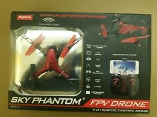 Syma Sky Phantom WiFi FPV Drone w/ Extra Battery Pack. Color Red 1232440 Costco