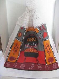 Crochet Everyday Kitchen Towel  (BBQ) **Gift Idea (Microfiber)