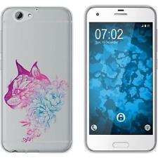 Case für HTC One A9s Silikon-Hülle Floral Katze M2-6 Case