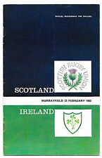 1963 - Scotland v Ireland, Five Nations Programme.