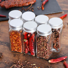 12PCS Spice Jars Square Portable Condiment Containers for Spices
