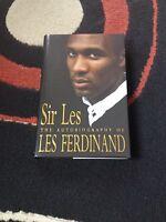 Sir Les: Autobiography of Les Ferdinand - Hardback - VGC