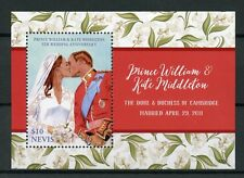Nevis 2017 MNH Prince William & Kate 5th Wedding Anniv 1v S/S Royalty Stamps