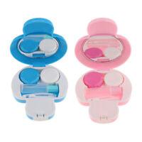 2pcs Mini Contact Lens Travel Kit Mushroom Case Storage Holder Container Box