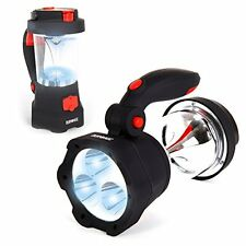 Duronic Hurricane 4 in 1 rechargeable wind-up dynamo flashing red LED - 10 LED