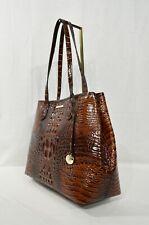 NWT Brahmin Medium Julian Embossed Leather Tote/Shoulder Bag in Pecan Melbourne