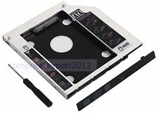 Universal Optical Bay 9.5mm SATA 2nd HDD SSD Hard Drive Caddy Adapter for laptop