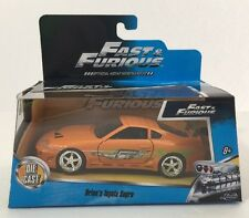 1/32 Fast And Furious Brian's Toyota Supra Orange By Jada NIB.