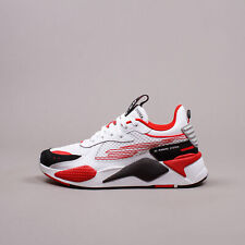 Puma RS-X Cyber White Red Black New Men Shoes Running Lifestyle gym 374331-01