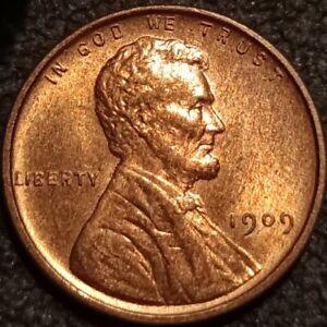 1909 VDB Lincoln Wheat Cent Penny 1c GEM BU+ Wood Grain Uncirculated  P2299